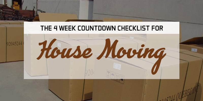 4 weeks contdown for house moving
