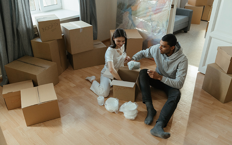 What should you do with the boxes after you have moved house