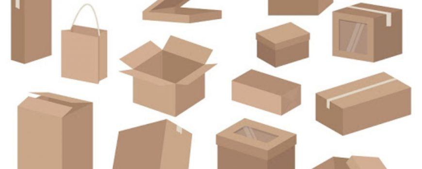 cardboard rectangle boxes